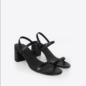 Black Slingback Minimal Sandal